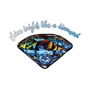Black reusable graphic face mask Diamond