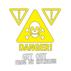 Graphic design for women apron Danger