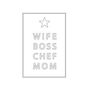Graphic design for women apron Professions