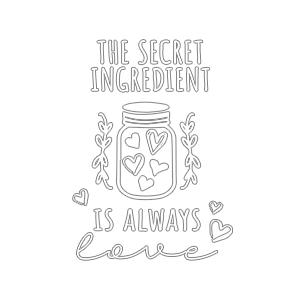 Graphic design for women apron Secret