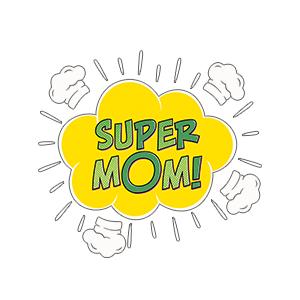 Graphic design for women apron Super mom